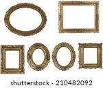 set of golden vintage frame... | Shutterstock . vector #210482092