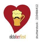 oktoberfest beer mustache | Shutterstock .eps vector #210486412
