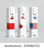 vector infographic modern box... | Shutterstock .eps vector #210486712