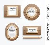 paper banners set design vector | Shutterstock .eps vector #210487348