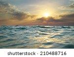 Wave On Sunset. Nature...