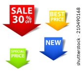 price tag arrow set colorful... | Shutterstock .eps vector #210490168