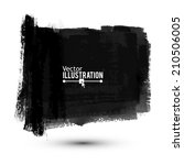 black paint banner. vector... | Shutterstock .eps vector #210506005