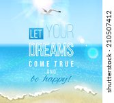 summer sea landscape with type... | Shutterstock .eps vector #210507412
