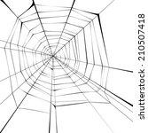 black spider web over white... | Shutterstock .eps vector #210507418