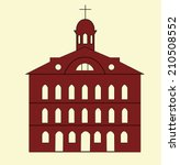 boston faneuil hall icon | Shutterstock .eps vector #210508552