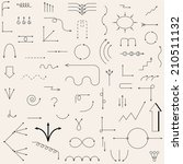 the arrows drawn in the vector. ... | Shutterstock .eps vector #210511132
