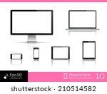 vector desktop computer blank... | Shutterstock .eps vector #210514582