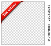 red corner ribbon template with ... | Shutterstock .eps vector #210515368