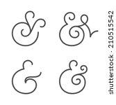 four elegant and stylish custom ... | Shutterstock .eps vector #210515542