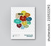 brochure cover design template... | Shutterstock .eps vector #210522292