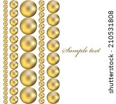 Vector Illustration Of Beads On ...