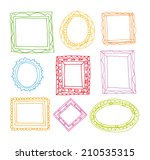 set picture frames  hand drawn ... | Shutterstock .eps vector #210535315