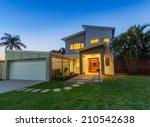 modern australian home front at ... | Shutterstock . vector #210542638