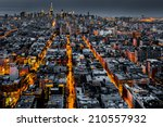 aerial view of new york city at ... | Shutterstock . vector #210557932