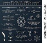 vector vintage set.... | Shutterstock .eps vector #210560032