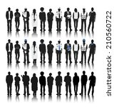 silhouettes of people with... | Shutterstock .eps vector #210560722