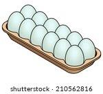 A Carton Of 12 Blue Eggs.