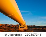 sunrise on a pipeline in the...   Shutterstock . vector #210567346