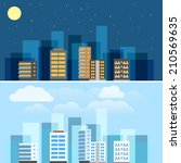 abstract city buildings... | Shutterstock .eps vector #210569635
