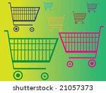 shopping carts   Shutterstock .eps vector #21057373