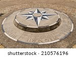 Compass Rose Placed On The...