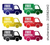 free shipping colorful icons... | Shutterstock . vector #210582442