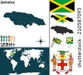 vector map of jamaica with... | Shutterstock .eps vector #210587095