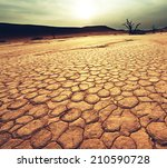 dead valley in namibia   Shutterstock . vector #210590728