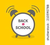 alarm cloack with chalk text... | Shutterstock .eps vector #210590788