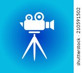 cinema camera icon. flat design ...