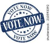 vote now blue vintage grungy...   Shutterstock . vector #210593392