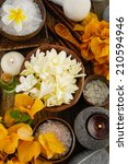 beautiful set for spa and... | Shutterstock . vector #210594946