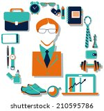 flat design concept icons of... | Shutterstock . vector #210595786
