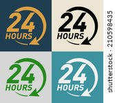 24 hours icon | Shutterstock .eps vector #210598435