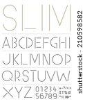 slim font | Shutterstock .eps vector #210598582