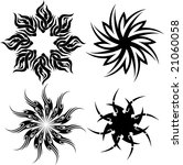 circle tribal tattoo isolated...   Shutterstock . vector #21060058