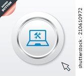 laptop repair sign icon....
