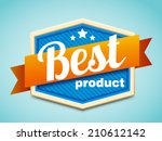 best product badge | Shutterstock .eps vector #210612142