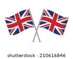 british flags. vector... | Shutterstock .eps vector #210616846