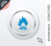 fire flame sign icon. heat...