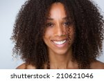 close up portrait of a young... | Shutterstock . vector #210621046