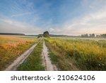 Landscape With Rural Sandy Roa...
