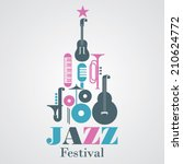 jazz festival  event invitation ... | Shutterstock .eps vector #210624772