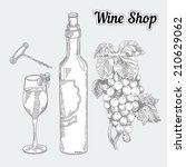 wine shop | Shutterstock .eps vector #210629062