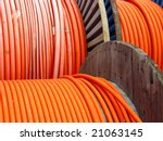 colored wires on spool | Shutterstock . vector #21063145