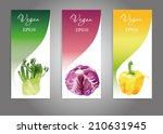 watercolor vector vegetables... | Shutterstock .eps vector #210631945
