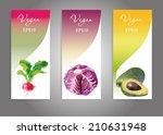 watercolor vector vegetables... | Shutterstock .eps vector #210631948