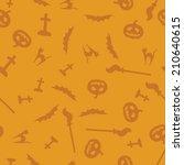 yellow and orange halloween... | Shutterstock .eps vector #210640615