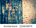 Old Forging Gate With Ornament...